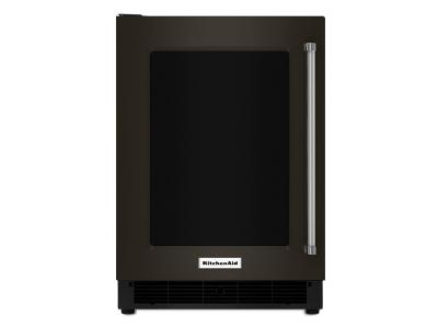 "24"" Kitchenaid Undercounter Refrigerator with Glass Door and Metal Trim Shelves - KURL304EBS"