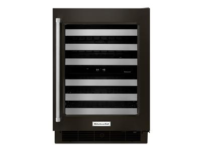"24"" KitchenAid Stainless Steel Wine Cellar with Metal-Front Racks - KUWR304EBS"