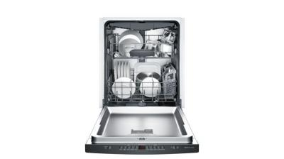 "24"" Bosch 300 Series Fully Integrated Dishwasher Black-SHS863WD6N"