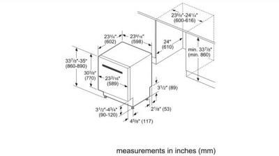 "24"" Bosch 300 Series Pocket Handle Dishwasher With Stainless Steel Tub - White-SHSM63W52N"