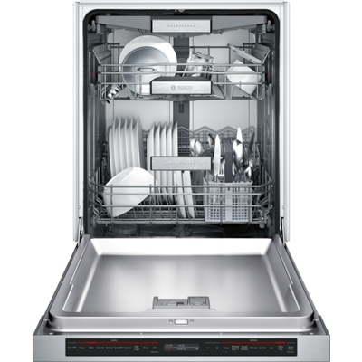 "24"" Bosch Recessed Handle Dishwasher SHEM78WH5N"