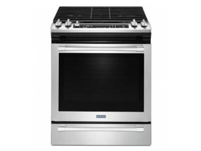 "30"" Maytag Stainless Steel Slide-In Convection Gas Range - MGS8800FZ"