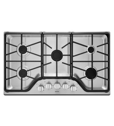 "36"" Maytag 5-Burner Gas Cooktop With Power Burner MGC7536DS"