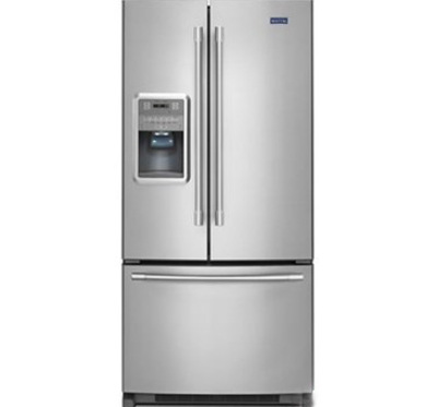 """33"""" Maytag 22 Cu. Ft. French Door Refrigerator with Beverage Chiller Compartment MFI2269FRW"""