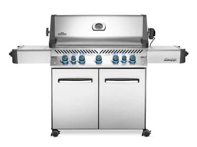 "75"" Napoleon Prestige 665 Natural Gas Grill with Infrared Rear Burner and Infrared Side Burner - P665RSIBNSS"