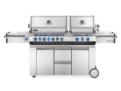 "94"" Napoleon Prestige PRO 825 Propane Gas Grill with Power Side Burner, Infrared Rear & Bottom Burners - PRO825RSBIPSS-3"