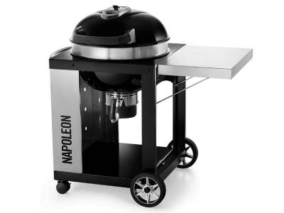 "45"" Napoleon Charcoal Grill Series Charcoal Kettle Grill In Black - PRO22K-CART-2"
