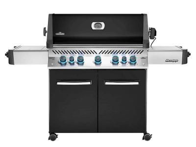 "75"" Napoleon Prestige 665 Infrared Side and Rear Burners, Black Propane Gas Grill - P665RSIBPK"