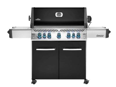 "75"" Napoleon Prestige 665 Infrared Side and Rear Burners, Black Natural Gas Grill - P665RSIBNK"