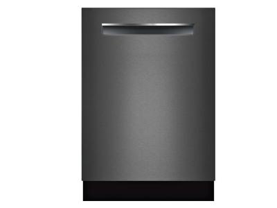 "24"" Bosch 800 Series Pocket Handle Fully Integrated Dishwasher Black Stainless Steel - SHPM78W54N"