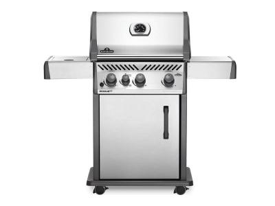 "51"" Napoleon Rogue 3-Burner Propane Gas Grill with Infrared Side Burner - RXT425SIBPSS-1"