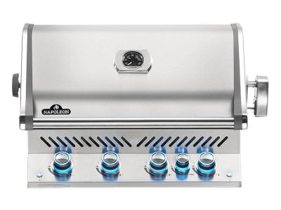 "33"" Napoleon Prestige PRO Series Built-In Natural Gas Grill With Infrared Rear Burner - BIPRO500RBNSS-3"