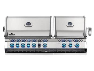 "56"" Napoleon Prestige PRO Series Built-In Natural Gas Grill With Infrared Bottom And Rear Burners - BIPRO825RBINSS-3"