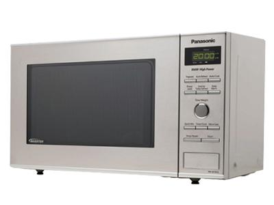 """20"""" Panasonic 0.8 Cu. Ft. Compact Stainless Steel Microwave Oven - NNSD382S"""