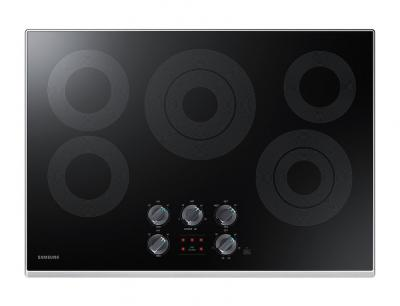 "34"" Samsung  Electric Cooktop With 3.3 kW Rapid Boil Burner - NZ30K6330RS"