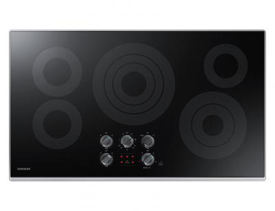 """36"""" Samsung  Electric Cooktop with 3.3 kW Rapid Boil Burner - NZ36K6430RS"""