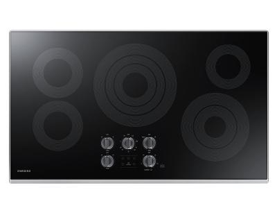 "36"" Samsung  Electric Cooktop with 3.3 kW Rapid Boil Burner - NZ36K6430RS"