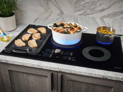 """36"""" Samsung Induction Chef Collection Cooktop - NZ36M9880UB"""