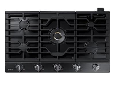 "36"" Samsung Gas Cooktop with 22K BTU True Dual Power Burner  - NA36N7755TG"