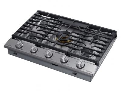 """30""""Samsung Gas Chef Collection Cooktop with 22K BTU Dual Power Burner- NA30N9755TS"""
