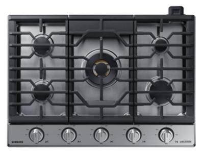 "30""Samsung Gas Chef Collection Cooktop with 22K BTU Dual Power Burner- NA30N9755TS"