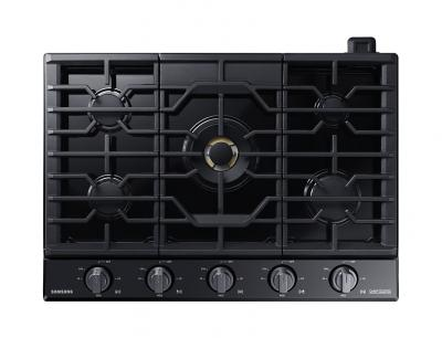 """30"""" Samsung Gas Chef Collection Cooktop with 22K BTU Dual Power Burner- NA30N9755TM/AA"""