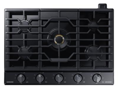 "30"" Samsung Gas Chef Collection Cooktop with 22K BTU Dual Power Burner- NA30N9755TM/AA"