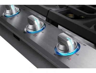 "36"" Samsung Gas Cooktop with 22 K BTU Dual Burner - NA36N7755TS"