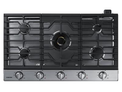 "36"" Samsung Gas Cooktop with 22 K BTU Dual Burner - NA36N7755TS"