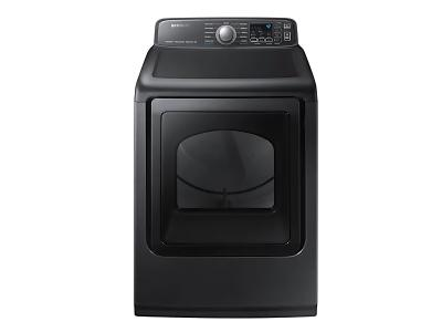 "27"" Samsung 7.4 Cu.Ft. Electric Dryer With Steam Sanitize In Black Stainless Steel - DVE50T7455V"