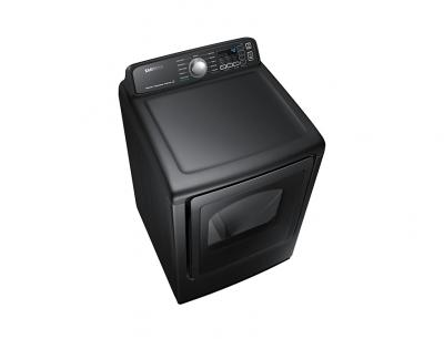 """27"""" Samsung 7.4 Cu.Ft. Electric Dryer With Steam Sanitize In Black Stainless Steel - DVE50T7455V"""