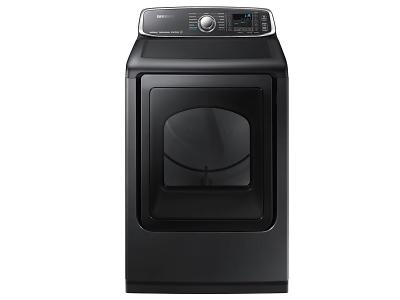 "27"" Samsung 7.4 Cu.Ft. Electric Dryer With Steam Sanitize In Black Stainless Steel - DVE52T7650V"