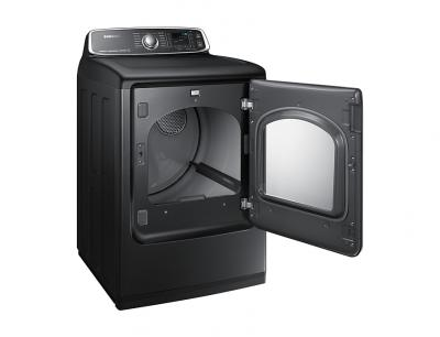 """27"""" Samsung 7.4 Cu.Ft. Electric Dryer With Steam Sanitize In Black Stainless Steel - DVE52T7650V"""