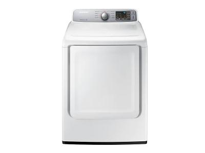 "27"" Samsung 7.4 Cu.Ft. Electric Dryer With Sensor Dry In White - DVE45T7000W"