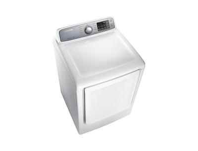 """27"""" Samsung 7.4 Cu.Ft. Electric Dryer With Sensor Dry In White - DVE45T7000W"""