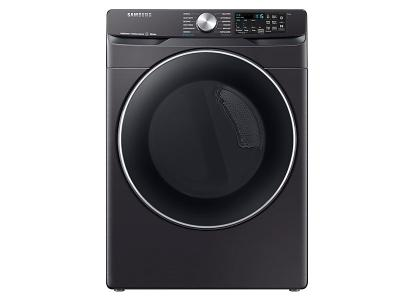 "27"" Samsung 7.5 Cu. Ft. Smart Electric Dryer With Steam Sanitize In Black Stainless Steel - DVE45R6300V"