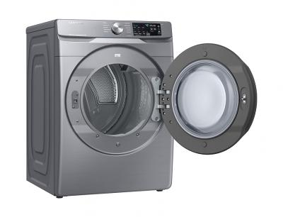 """27"""" Samsung 7.5 Cu.Ft. Gas Dryer With Steam Sanitize In Platinum - DVG45T6100P"""