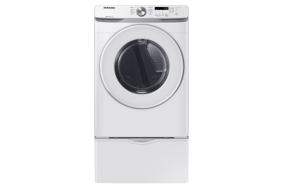 "27"" Samsung 7.5 cu.ft. Electric Dryer with Shallow Depth In White - DVE45T6005W"