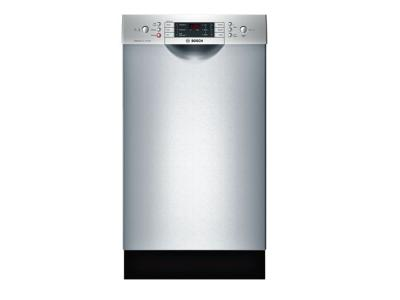 "18"" Bosch Full Console Dishwasher with 3rd Rack  Stainless steel - SPE68U55UC"
