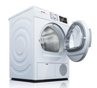 """24"""" Bosch 4 Cu. Ft. 300 Series Compact Condensation Dryer In White - WTG86400UC"""