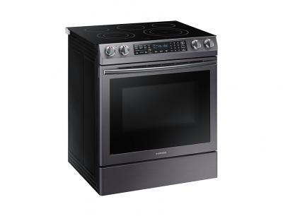 """30"""" Samsung Slide-in Electric Range With 5 Burners And Dual Convection Oven- NE58R9430SG"""