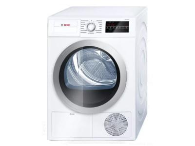 """24"""" Bosch 4 Cu. Ft. 500 Series Compact Condensation Dryer In White - WTG86401UC"""