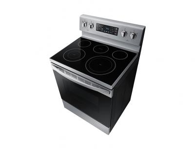 """30"""" Samsung 5.9 cu. ft. Electric Range with Fan Convection - NE59R4321SS"""