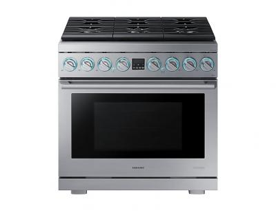 """36"""" Samsung Dual Fuel Pro Range, Stainless Steel - NY36R9966PS"""