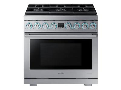 "36"" Samsung Dual Fuel Pro Range, Stainless Steel - NY36R9966PS"