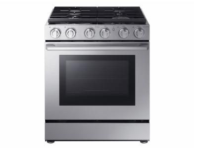 "30"" Samsung 5.8 cu. ft. Gas Chef Collection Pro Range with Dual Convection - NX58M9960PS"