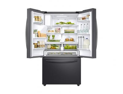 """36"""" Samsung  French Door Refrigerator with Twin Cooling Plus (Black Stainless steel) - RF28R6201SG"""