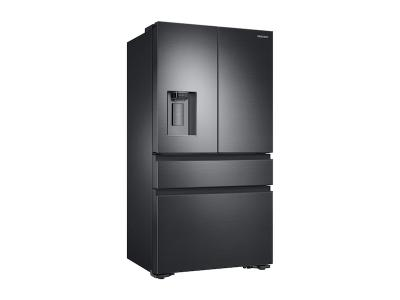 """36"""" Samsung 23 cu. ft. Counter Depth 4-Door French Door Refrigerator in Black Stainless Steel - RF23M8070SG"""