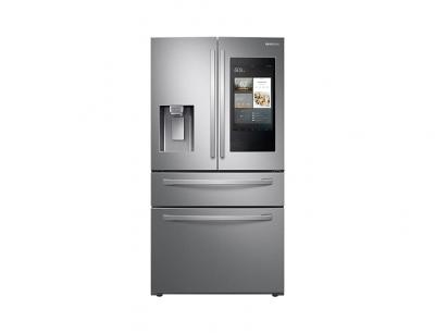 "36"" Samsung 28 cu. ft. French Door Refrigerator With 21.5"" Touch Screen Family Hub - RF28R7551SR"
