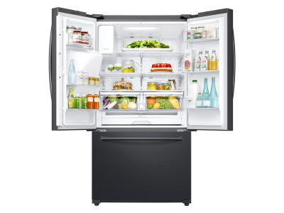 "36"" Samsung 24 cu. ft. Capacity 3 -Door French Door Refrigerator with Family Hub  - RF265BEAESG"